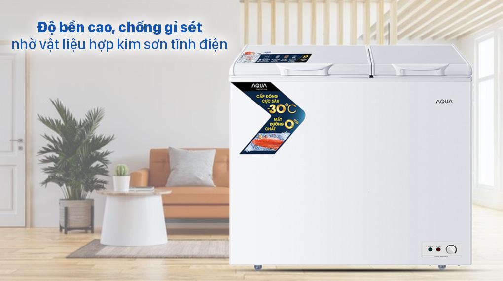 Tủ đông AQUA 211 lít AQF-C3102S - Vật liệu hợp kim sơn tĩnh điện
