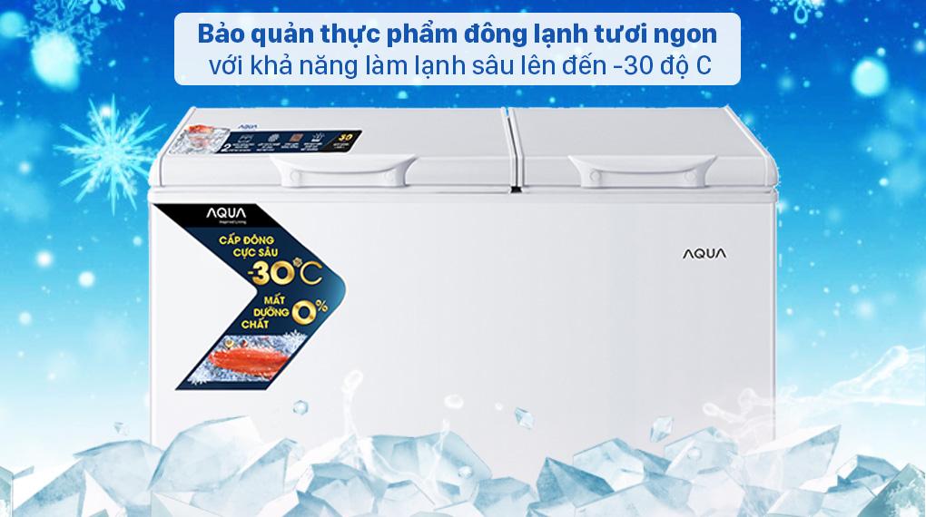 Tủ đông AQUA 211 lít AQF-C3102S - Khả năng làm lạnh sâu lên đến -30 độ C