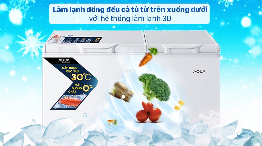 Tủ đông AQUA 211 lít AQF-C3102S - Hệ thống làm lạnh 3D