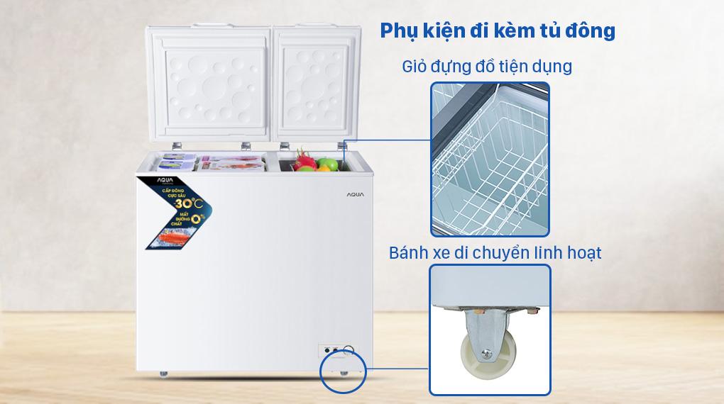 Tủ đông AQUA 211 lít AQF-C3102S - Một số phụ kiện đi kèm tiện dụng