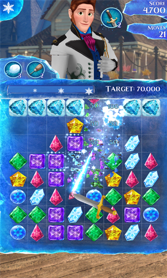FrozenFreeFall scr3 Tải game Frozen Free Fall   Nữ hoàng băng giá miễn phí