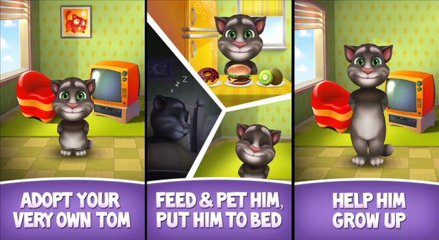 Người chơi có cơ hội chăm sóc chú mèo Tom giúp chú ngày càng dễ thương và sành điệu