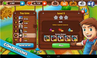 FarmPuzzleStoryMatch3Game scr6 Tải game Farm Puzzle Story Match 3 Game miễn phí