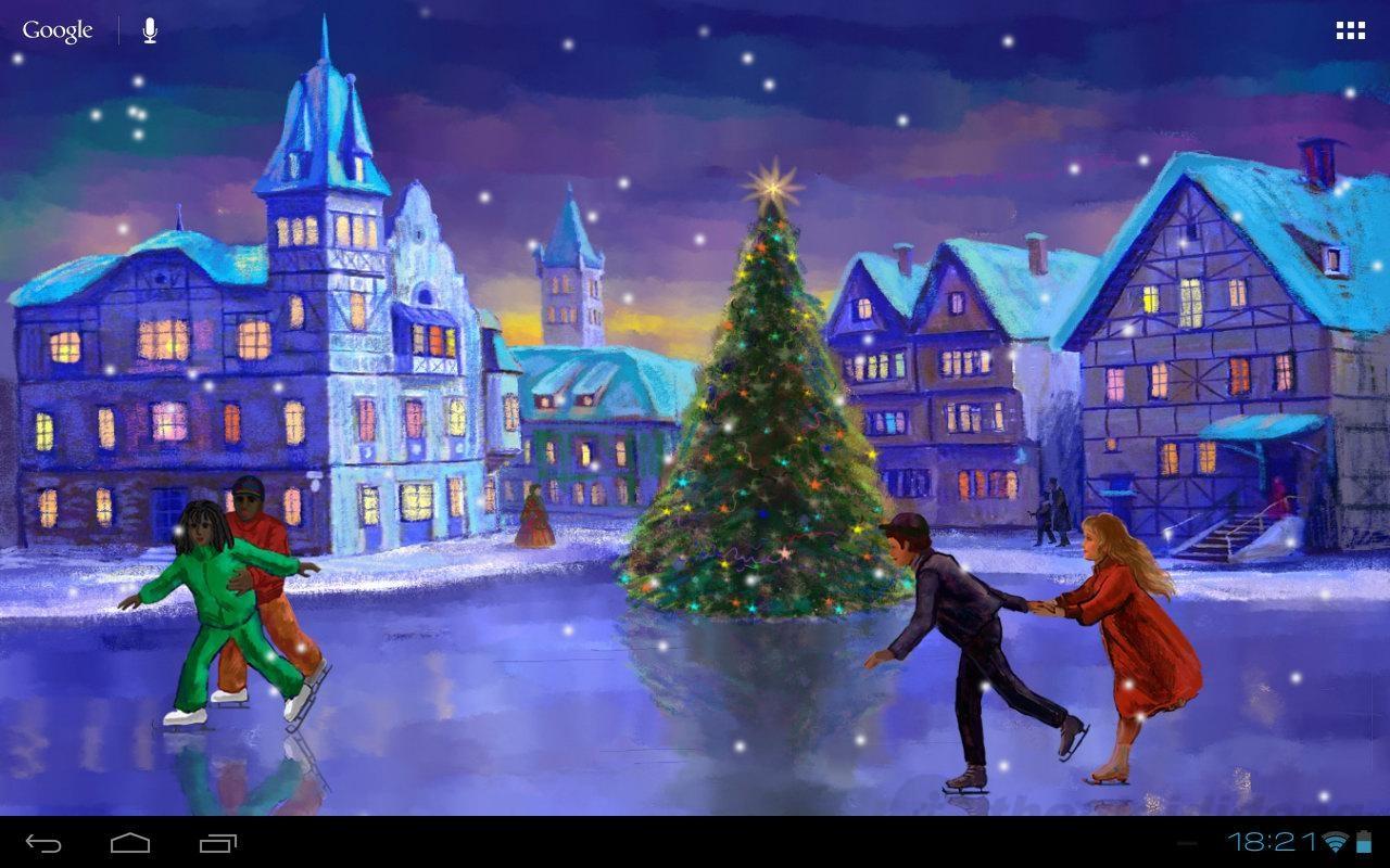 Fondo De Pantalla 3d De Navidad De Santa Vas De Luna Hd: Hình Nền Giáng Sinh