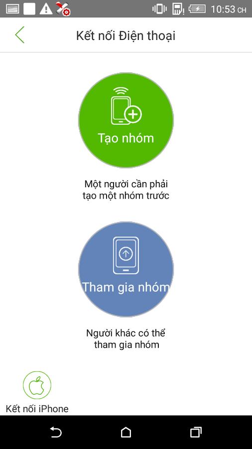 Mobi360 chuyển dữ liệu cho điện thoại