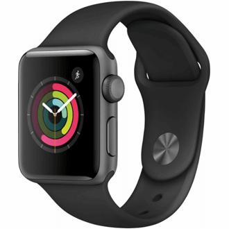 Apple Watch S3 GPS, 42mm mặt nhôm, dây cao su màu đen