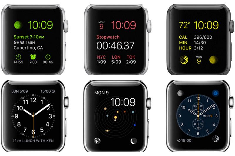 Màn hình trên Apple Watch S3 GPS, 42mm viền nhôm, dây cao su màu đen