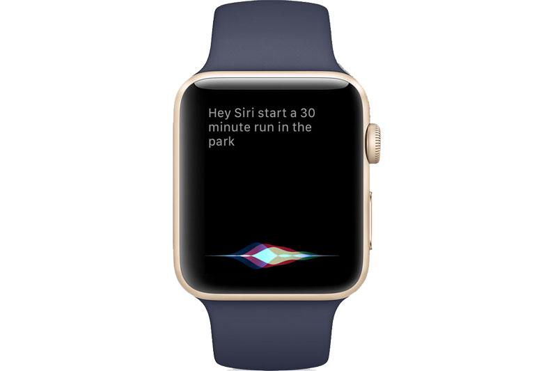 Trợ lí ảo Siri trên Apple Watch S3 GPS, 42mm viền nhôm, dây cao su màu đen