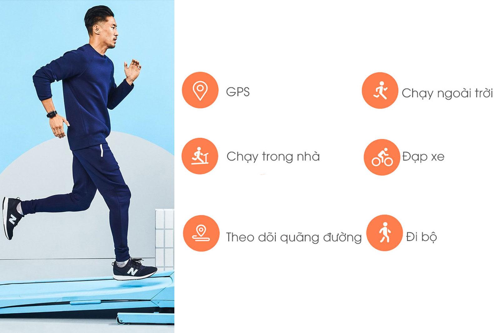 Các chế độ luyện tập trên smartwatch Xiaomi Amazfit Bip Đen