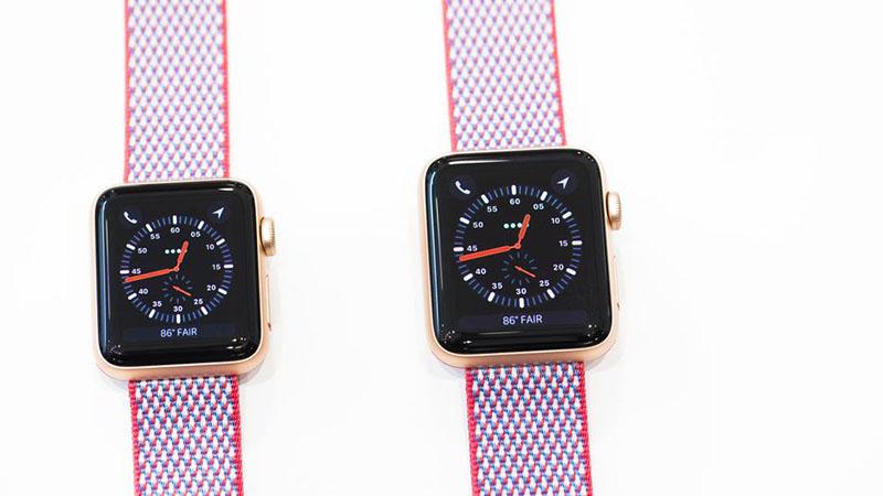 Chip S3 2 nhân trên Apple Watch S3 GPS, 38mm viền nhôm, dây màu trắng xám