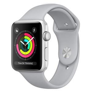 Apple Watch S3 GPS, 38mm viền nhôm, dây màu trắng xám