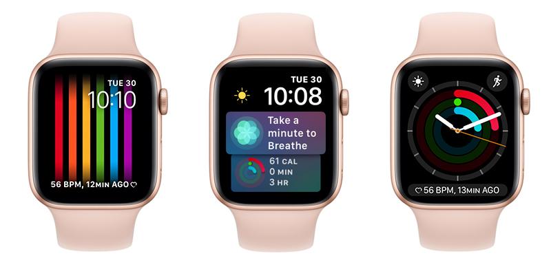 thay mặt - Apple Watch S4 GPS, 40mm Viền Nhôm màu hồng