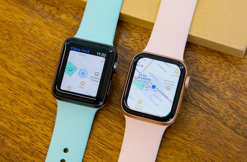 gps - Apple Watch S4 GPS, 40mm Viền Nhôm màu hồng