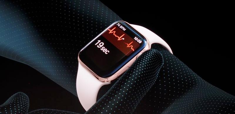 đo nhịp tim -  Apple Watch S4 GPS, 40mm Viền Nhôm màu hồng