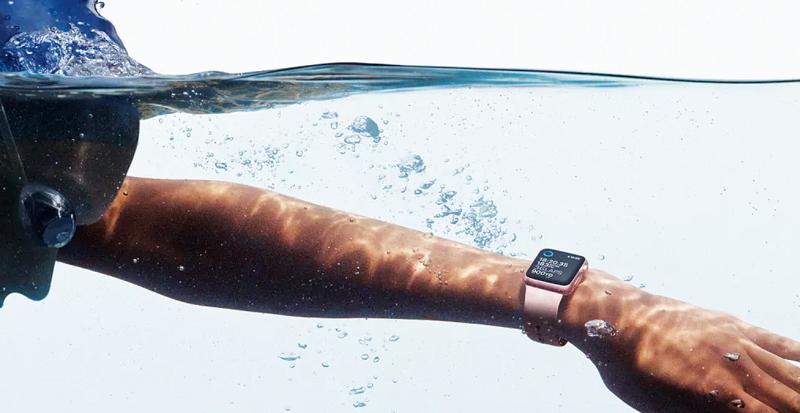 chống nước - Apple Watch S4 GPS, 40mm Viền Nhôm màu hồng