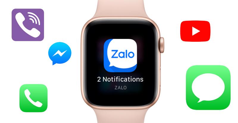 hiền thị thông báo - Apple Watch S4 GPS, 40mm Viền Nhôm màu hồng