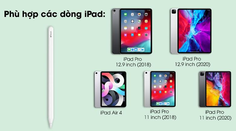 Bút cảm ứng Apple Pencil Gen 2 - Tương thích nhiều dòng iPad