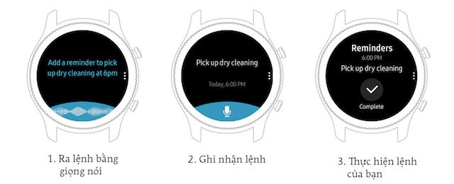 Samsung Gear S3 frontier LTE - Ra lệnh bằng giọng nói