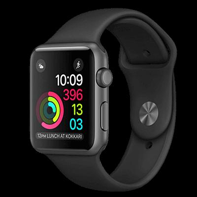 Apple Watch S2 42mm mặt nhôm, dây cao su màu đen