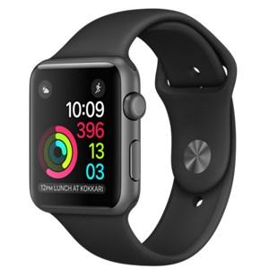 Apple Watch S2 38mm mặt nhôm, dây cao su màu đen