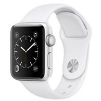 Apple Watch S2 38mm mặt nhôm, dây cao su màu trắng