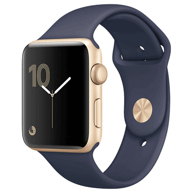 Apple Watch S2 42mm mặt nhôm, dây cao su màu xanh đậm