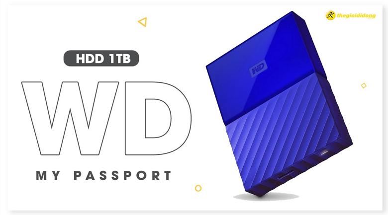 Ổ cứng HDD 1TB WD My Passport Xanh Dương