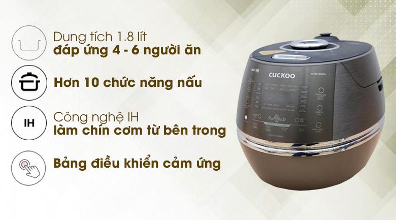Nồi cơm điện cao tần Cuckoo 1.8 lít CRP- CHSS1009FN