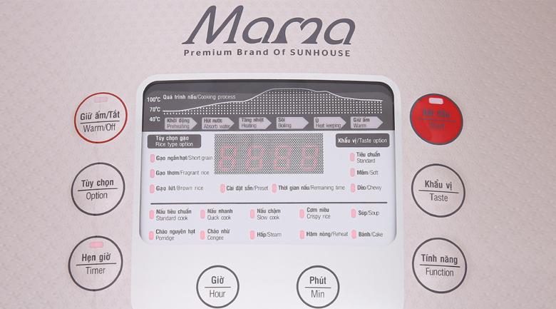 Nồi cơm điện tử Sunhouse mama 1.5 lít SHD8915 - Nồi có nhiều chế độ nấu tự động