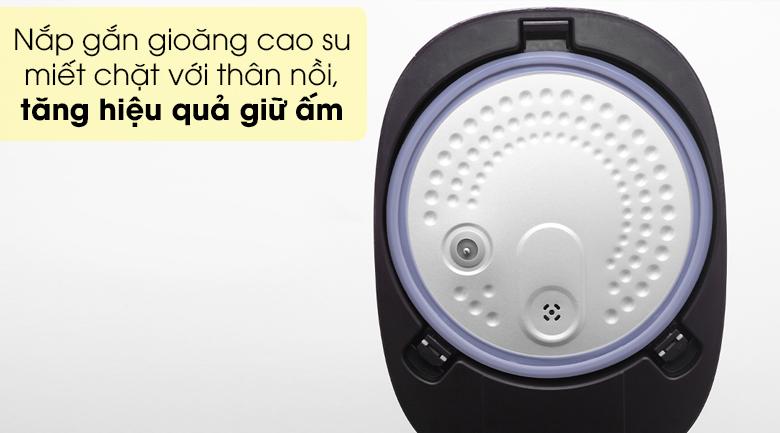 Nồi cơm điện tử Sunhouse mama 1.5 lít SHD8915 - Nắp nồi cách nhiệt tốt, có gioăng cao su giữa phần miệng nắp và thành nồi giúp miết chặt