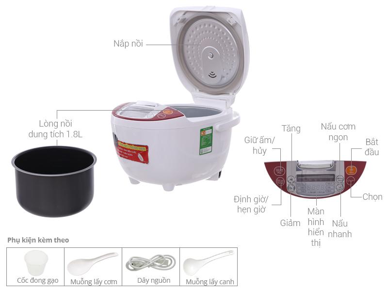 Thông số kỹ thuật Nồi cơm điện tử Supor 1.8 lít CFXB50FC29VN-75