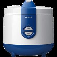 Nồi cơm nắp gài Philips HD3119 2 lít (trắng xanh)