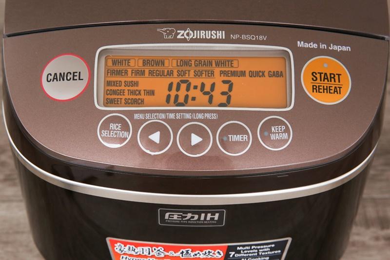 Bảng điều khiển điện tử dễ dùng - Nồi cơm điện cao tần Zojirushi 1.8 lít NP-BSQ18V-TA