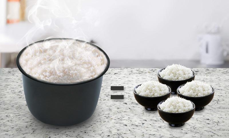 Nấu cơm cho 2 - 4 người ăn - Nồi cơm điện tử Zojirushi 1 lít NS-YSQ10-XJ