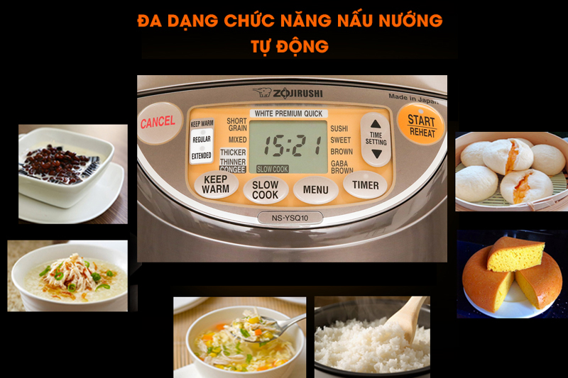 Đa chức năng nấu - Nồi cơm điện tử Zojirushi 1 lít NS-YSQ10-XJ