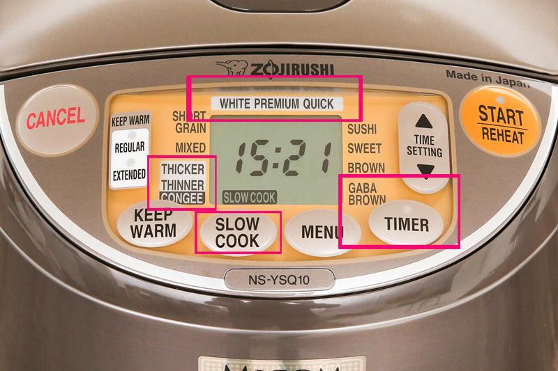 Nấu tiện lợi với nhiều tiện ích phụ trợ - Nồi cơm điện tử Zojirushi 1 lít NS-YSQ10-XJ