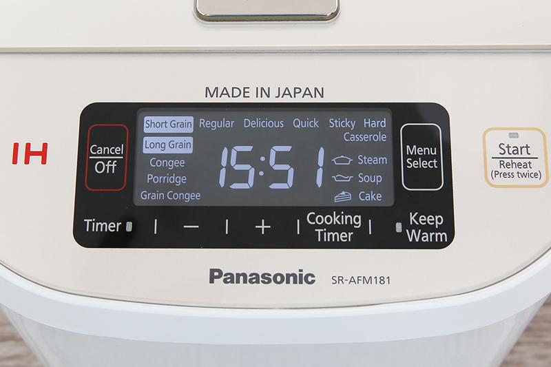 Đa chức năng tiện dụng - Nồi cơm điện cao tần Panasonic 1.8 lít SR-AFM181WRA
