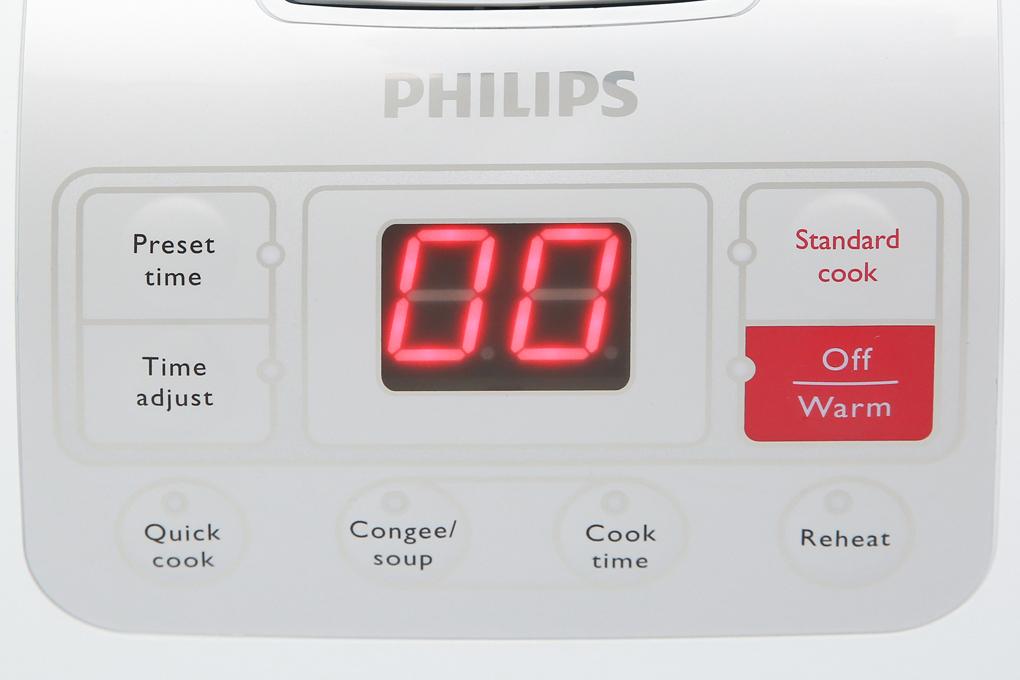 Nồi cơm điện tử Philips HD3030 - Nhiều chức năng tiện lợi