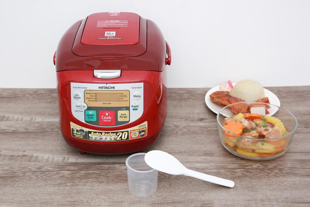 Thiết kế hiện đại với màu đỏ chủ đạo - Nồi cơm điện tử Hitachi RZ-D18VFY 1.8 lít