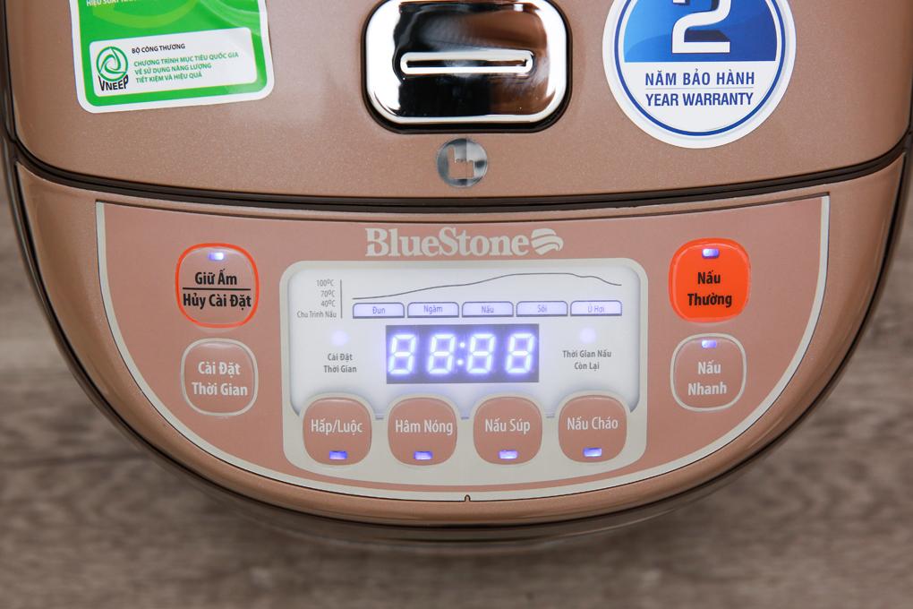 Bảng điều khiển nút nhấn điện tử có hướng dẫn tiếng Việt thân thiện người dùng - Nồi cơm điện tử Bluestone 1.8 lít RCB-5936