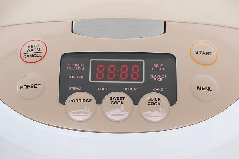 Bảng điều khiển điện tử với các nút nhấn chỉ dẫn chi tiết - Nồi cơm điện tử Sharp KS-COM181CV-GL