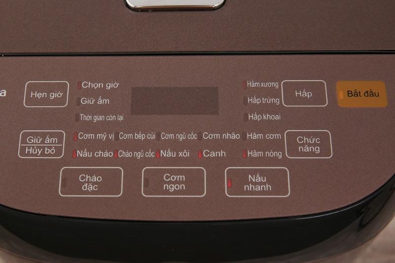 Bảng điều khiển nút nhấn có chỉ dẫn tiếng Việt rõ ràng - Nồi cơm điện tử Midea 1.8 lít MB-FS5006