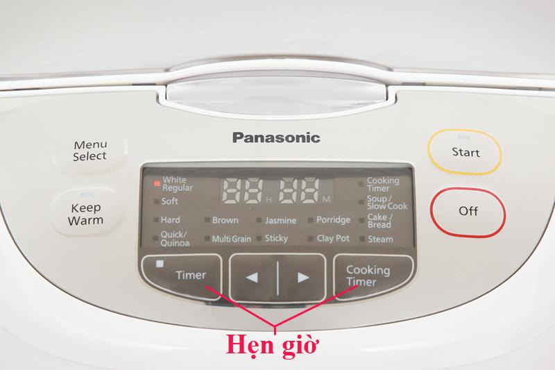 Hẹn giờ nấu tiện dụng - Nồi cơm điện tử Panasonic SR-CX188SRA