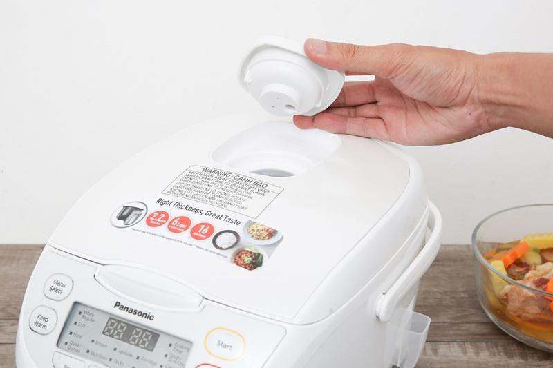Van thoát hơi thông minh kiểm soát hơi nước trong nồi tối ưu - Nồi cơm điện tử Panasonic 1 lít SR-CL108WRA