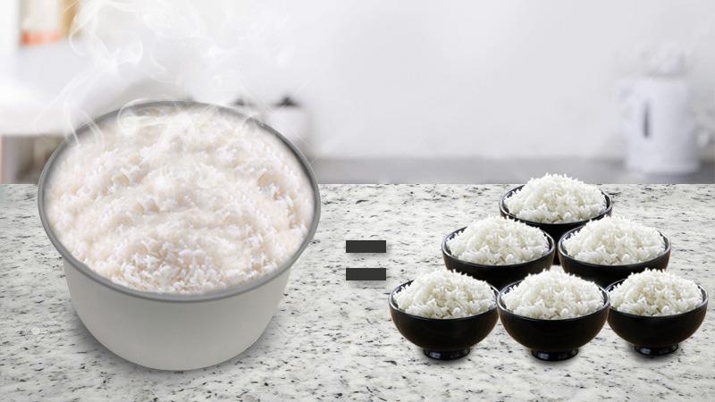 Cho 4 - 6 người ăn - Nồi cơm nắp gài 1.8 lít Midea MR-CM1825