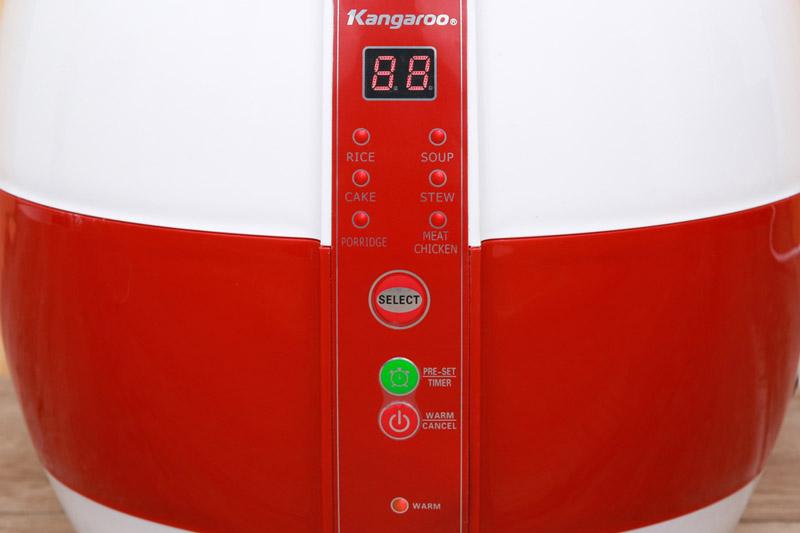 Đa chức năng, dễ dùng - Nồi cơm điện nắp gài Kangaroo 1.8 lít KG835