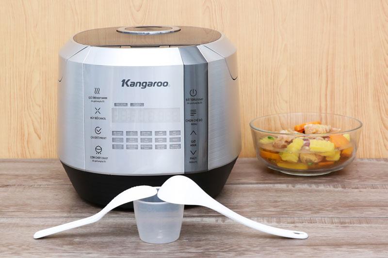 Màu xám trung tính, hiện đại - Nồi cơm điện tử Kangaroo 1.5 lít KG598