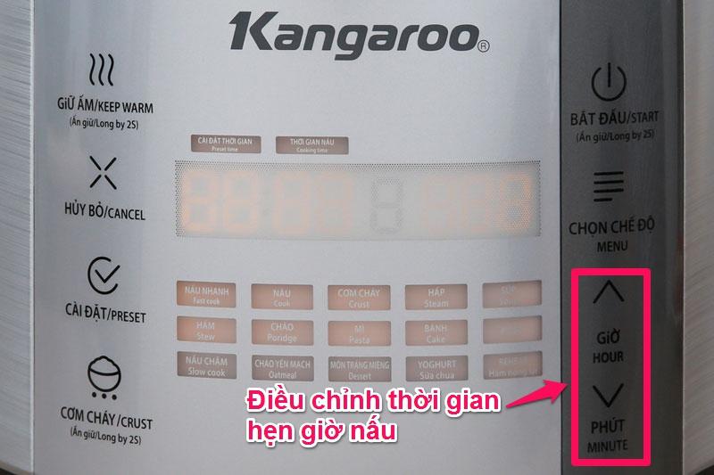 Chức năng hẹn giờ nấu tiện dụng - Nồi cơm điện tử Kangaroo 1.5 lít KG598