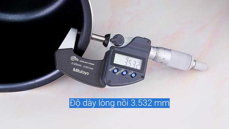 Lòng nồi dày 3.532 mm - Nồi cơm điện tử Panasonic 1 lít SR-CP108NRA