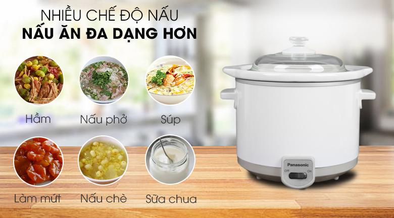 Đa dạng chức năng nấu - Nồi nấu chậm Panasonic 1.5 lít NF-N15SRA
